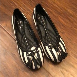 Striped Flats (size 8)